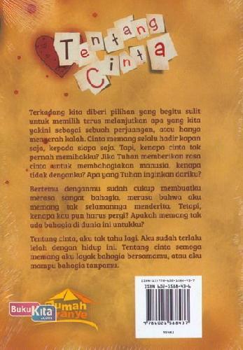Cover Belakang Buku Tentang Cinta
