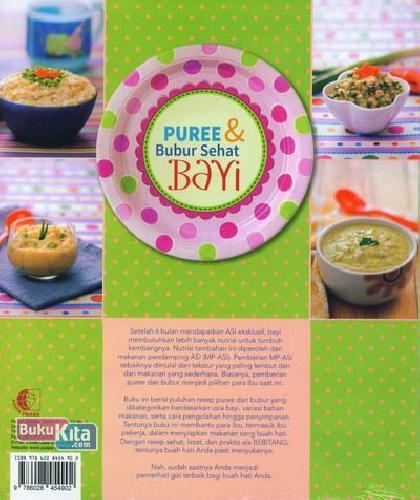 Cover Belakang Buku Puree & Bubur Sehat Bayi Food Lovers