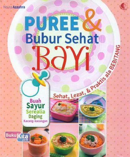 Cover Buku Puree & Bubur Sehat Bayi Food Lovers