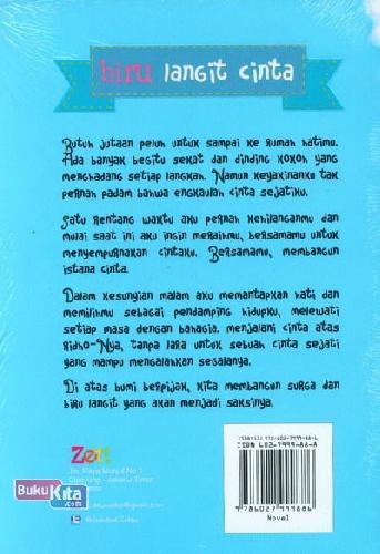 Cover Belakang Buku Biru Langit Cinta