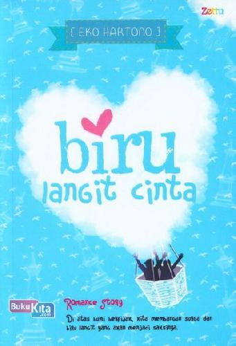 Cover Buku Biru Langit Cinta