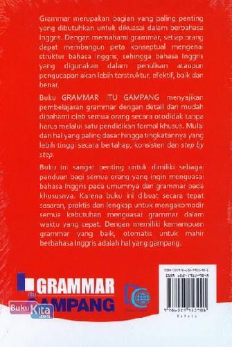 Cover Belakang Buku Grammar Itu Gampang Secara Otodidak