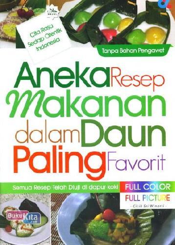 Cover Buku Aneka Resep Makanan dalam Daun Paling Favorit (Full Color)