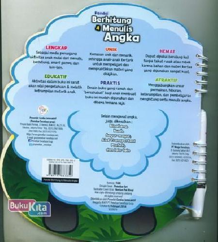 Cover Belakang Buku Pandai Berhitung & Menulis Angka (Untuk Anak 4-6 tahun)