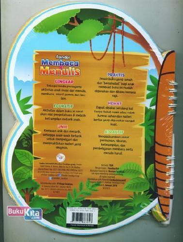 Cover Belakang Buku Pandai Membaca dan Menulis (untuk anak 4-6 tahun)