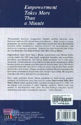 Cover Belakang Buku Empowerment Takes More Than a Minute Edisi Kedua