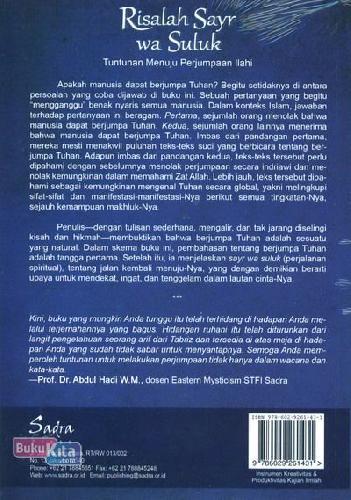 Cover Belakang Buku Risalah Sayr wa Suluk: Tuntunan Menuju Perjumpaan Ilahi
