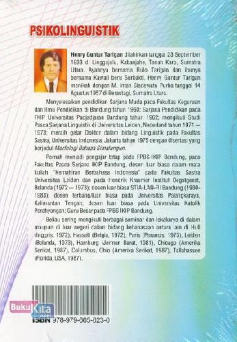 Cover Belakang Buku Psikolinguistik (Cover Baru)