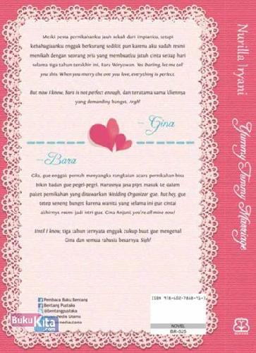 Cover Belakang Buku Yummy Tummy Marriage