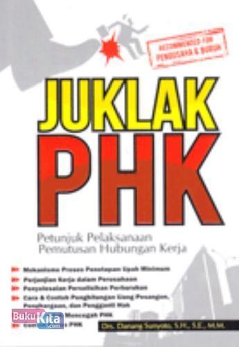 Cover Buku Juklak PHK: Petunjuk Pelaksanaan Pemutusan Hubungan Kerja