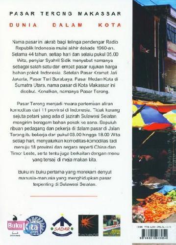 Cover Belakang Buku Dunia Dalam Kota (Pasar Terong Makassar)