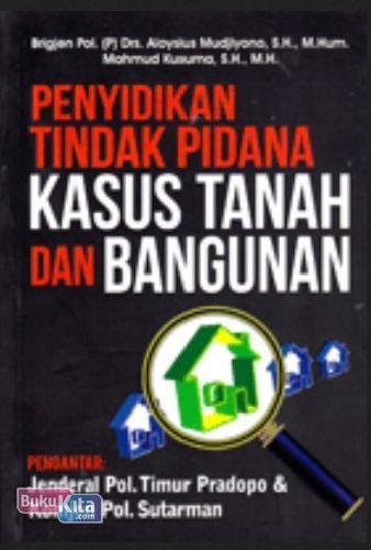 Cover Buku Penyidikan Tindak Kasus Pidana Tanah dan Bangunan