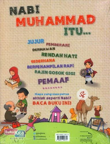 Cover Belakang Buku Belajar Akhlak dari Nabi Muhammad