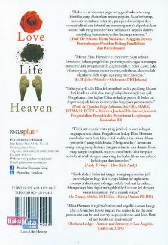 Cover Belakang Buku Love Life Heaven