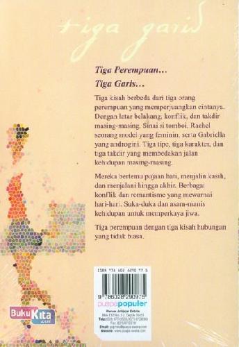 Cover Belakang Buku Tiga Garis Aku, Kamu, Takdir