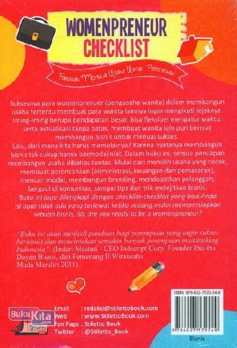 Cover Belakang Buku Womenpreneur Checklist