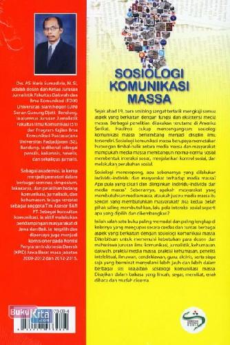 Cover Belakang Buku Sosiologi Komunikasi Massa