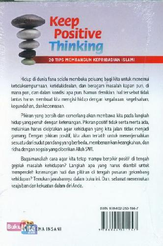 Cover Belakang Buku Keep Positive Thinking