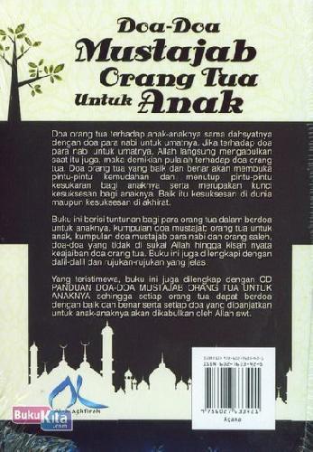 Cover Belakang Buku Doa-Doa Mustajab Orang Tua Untuk Anak (CD)