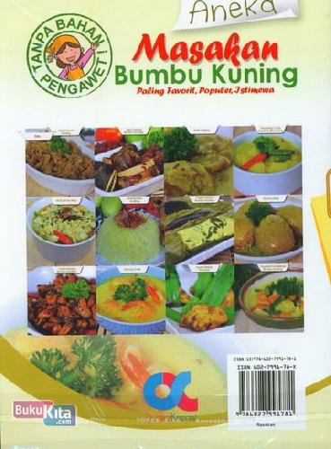Cover Buku Aneka Masakan Bumbu Kuning Paling Favorit, Populer, Istimewa