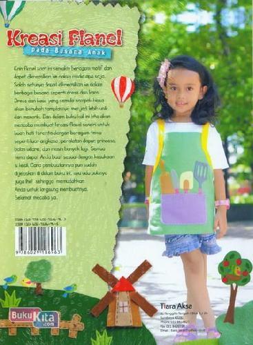 Cover Belakang Buku Kreasi Flanel Pada Busana Anak
