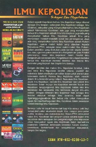 Cover Belakang Buku Ilmu Kepolisian Sebagai Ilmu Pengetahuan