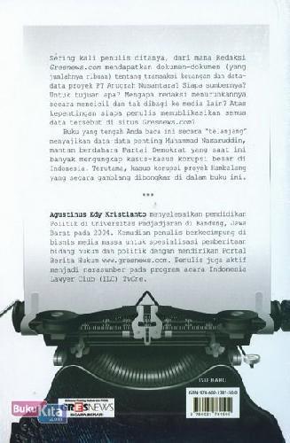 Cover Belakang Buku Hambalang The X Files
