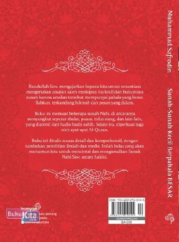 Cover Belakang Buku Sunah-Sunah Kecil Berpahala Besar