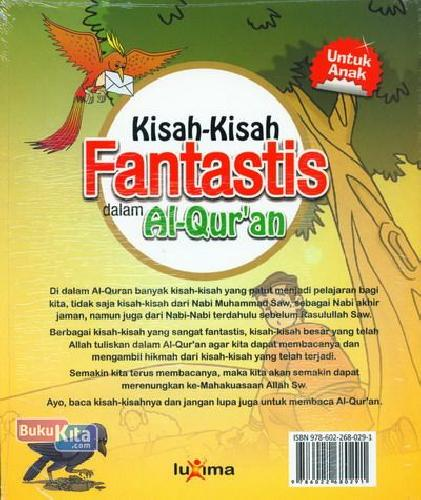 Cover Belakang Buku Kisah-Kisah Fantastis dalam Al-Qur'an