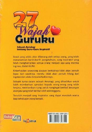 Cover Belakang Buku 27 Wajah Guruku