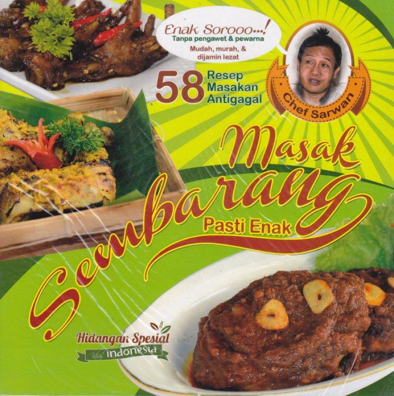 Cover Buku Masak Sembarangan Pasti Enak (58 Resep Masakan Antigagal)
