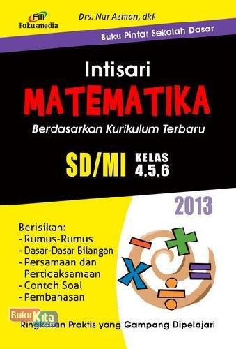 Cover Buku Intisari Matematika SD/MI Kelas 4,5,6