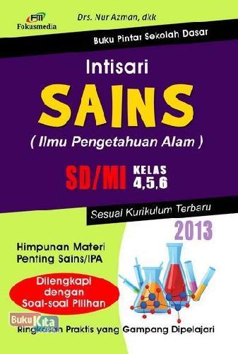 Cover Buku Intisari Sains SD/MI Kelas 4,5,6 (2013)