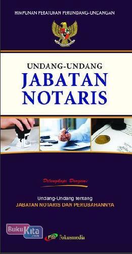Cover Buku Undang-Undang Jabatan Notaris