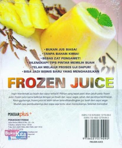Cover Belakang Buku Frozen Juice