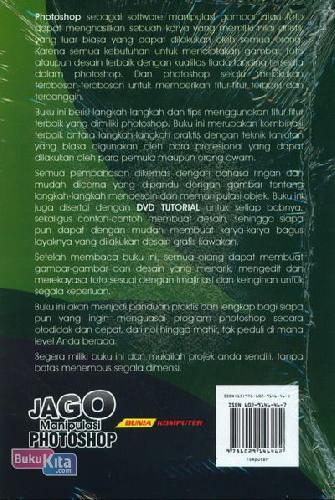 Cover Belakang Buku Jago Manipulasi Photoshop Pemula & Orang Awam (Full Color)