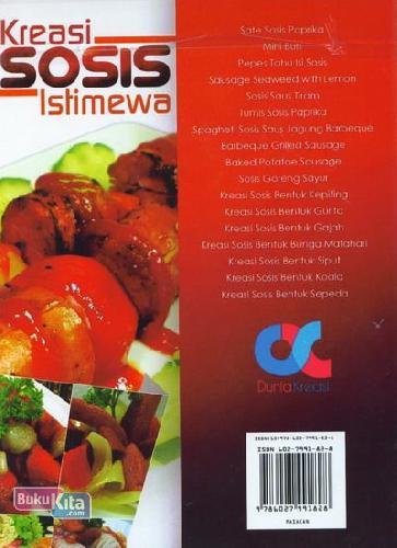 Cover Belakang Buku Kreasi Sosis Istimewa (Full Color+Full Picture)