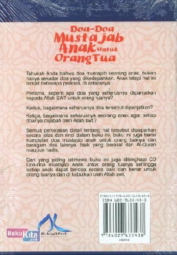 Cover Belakang Buku Doa-Doa Mustajab Anak Untuk Orang Tua