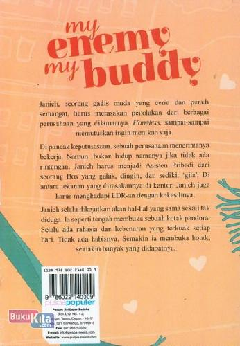 Cover Belakang Buku My Enemy My Buddy