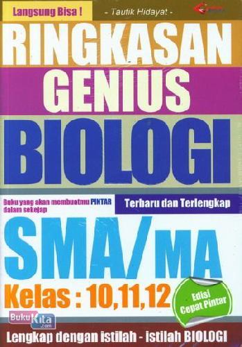 Cover Buku Ringkasan Genius Biologi SMA/MA Kelas 10,11,12