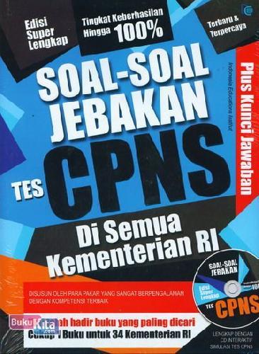 Cover Buku Soal-Soal Jebakan Tes CPNS di Semua Kementerian RI