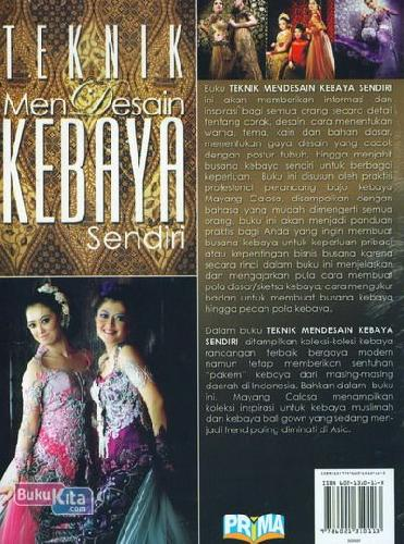 Cover Belakang Buku Teknik Mendesain Kebaya Sendiri (Color Edition)