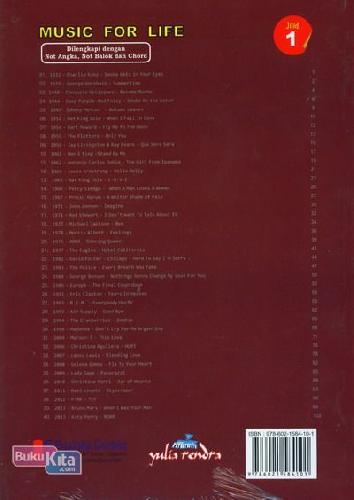Cover Belakang Buku Music For Life Jilid 1