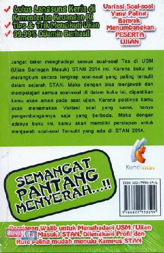 Cover Belakang Buku Semangat Pantang Menyerah Soal-Soal Tersulit Dalam Tes Masuk STAN 2014