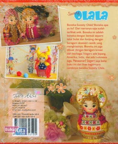 Cover Belakang Buku Sweety Olala - Kreasi Boneka Cute dari Mancanegara