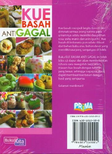 Cover Kue Basah Anti Gagal Tanpa Bahan Pengawet dan Pemanis Buatan (Full Color+Full Picture)