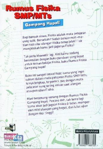 Cover Belakang Buku Rumus Fisika SMP/MTs Gampang Hapal