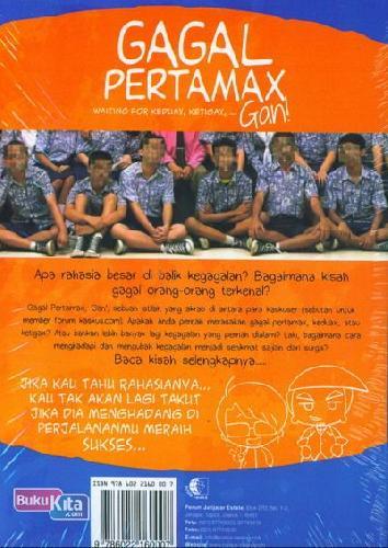 Cover Belakang Buku Gagal Pertamax Waiting For Keduax, Ketigax Gan