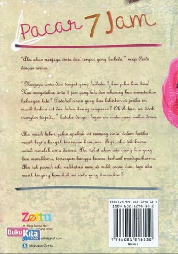 Cover Belakang Buku Pacar 7 Jam