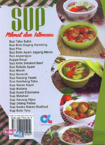 Cover Belakang Buku Sup Nikmat dan Istimewa (Full Color+Full Picture)